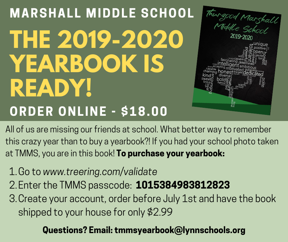TMMS Yearbook flyer English