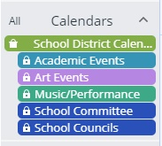 Icon Showing Calendar Colors